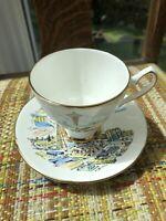 Seattle World's Fair 1962 Tea Cup & Saucer Winston Bone China 22 kt. Gold