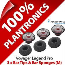 3 x Plantronics Replacement Medium Ear Tip Gels Bud & Sponge Voyager Legend Pro