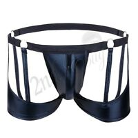 Sexy Men Lingerie Patent Leather G-string Bikini Briefs Jock strap Underwear