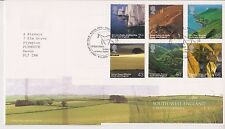 GB ROYAL MAIL FDC 2005 SOUTH WEST ENGLAND STAMP SET TALLENTS PMK