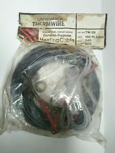 New Chromalox Thermwire No. TW-28 160 Feet General Purpose Heating Cable