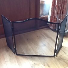 Clas Ohlson Black Lacquered Steel Fire Screen