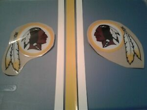 Washington Redskins full size football helmet decals set
