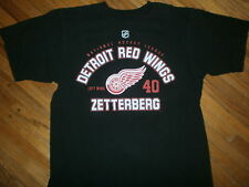 DETROIT RED WINGS HENRIK ZETTERBERG T SHIRT Jersey Tee 40 Hockey NHL