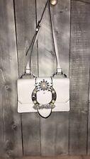 Miu Miu Crystal Buckle Mini Shoulder Bag