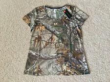 UNDER ARMOUR Threadborne Early Season Camo Hunting Short Sleeve Shirt women L