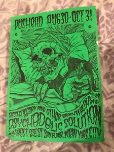 Pushead postcard from psychedelic solution event at 8th st nyc used