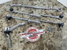 NEW-IN-BOX CHROME Steering Linkage Set  77-84 Chevrolet B Body, Cadillac DeVille
