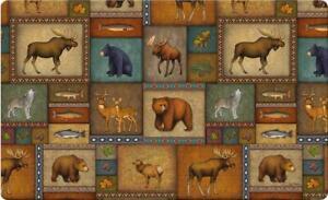 Toland Home Garden Quilted Wilderness 18 x 30 Inch Decorative Wildlife Floor...