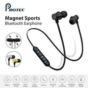 Sweatproof Wireless Bluetooth Earphones Headphones Sport Gym For iPhone iPad