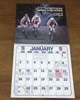 Vtg 1983 Schwinn Bicycle Calendar Dealer Appointment Bike BMX 80's