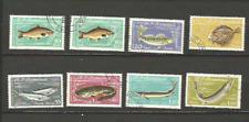 poissons de mer 1960 Roumanie 8 timbres anciens oblitérés  /T4312