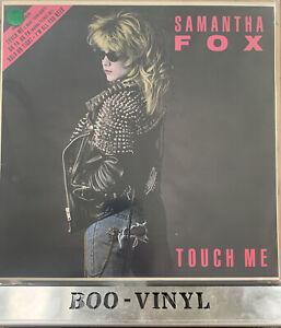 "Samantha Fox - Touch Me 12"" Vinyl LP Synth-Pop 1986 Jive HIP 39 Record EX / EX"