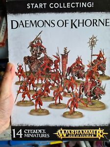Start Collecting Daemons Of Khorne Games Workshop GW Warhammer BNIB Sigmar