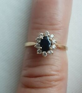 Tres Belle Bague Marquise Or 18 Carats 1,4 gr