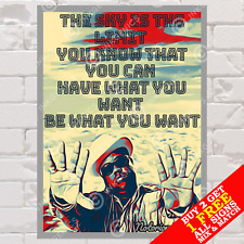 More details for metal sign notorious b.i.g hip hop rap music wall decor tin photo poster home