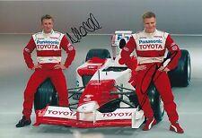 Mika Salo and Allan McNish Hand Signed 12x8 Photo Panasonic Toyota F1.