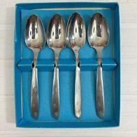 Atomic Starburst Set of 4 Grapefruit Spoons Superior Stainless Flatware USA
