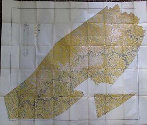 Folded Soil Survey Map Braxton Clay County West Virginia Gassaway Sutton 1918