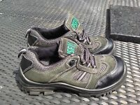 SIZE 5 EU 38 US 7 PSF TERRAIN PROTECTIVE TOECAP SAFETY TRAINERS GREY BLACK