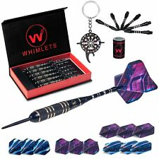 Whimlets Steel Tip Darts Set 6 Pack - Professional Darts Set 22 Grams