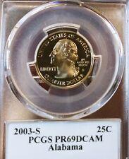 2003-S USA STATE QUARTER ALABAMA PCGS PR69DCAM