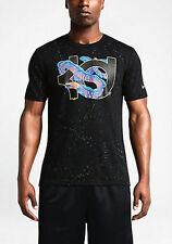 NWT Nike KD Kevin Durant Electric Eel T-shirt Size XXL Black Swoosh Spatter Fish