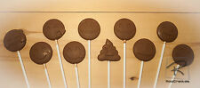 Emoji gift Belgian chocolate lollipops/lollies x 10 emoticons.Parties, Favours.
