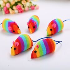 Cat Toy Pet Mouse Shape Kitten Toys Mice Feather Plush Funny Food Play Shaped