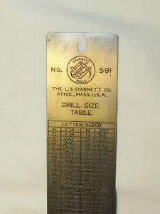 Vintage L.S. Starrett No. 591 Drill Size Table Gauge