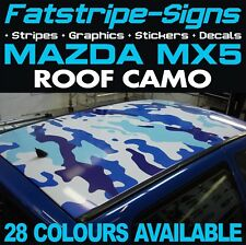 MAZDA MX5 ROOF CAMO GRAPHICS STICKERS STRIPES DECALS CAMOUFLAGE 1.6 1.8 ROADSTER