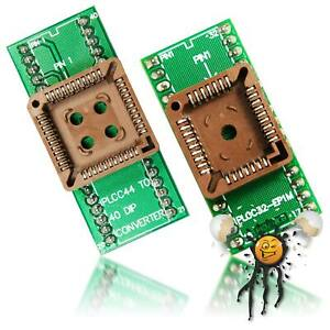 QF PLCC Adapter QFJ44 PLCC44 QFJ32 32 PLCC32 DIL EPROM to 2,54 Dip Adapter