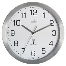 Acctim  Mason Radio Controlled Wall Clock, Silver great for office Clocks