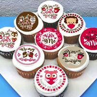 Valentines Love Edible Cupcake Toppers