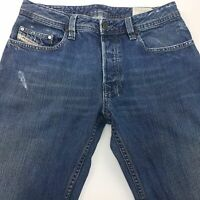 Diesel LEVAN Mens Jeans W31 L32 Dark Blue Regular Fit Straight High Rise