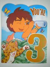 "American Greetings ~ Go Diego Go ~ ""YOU'RE 3"" BIRTHDAY GREETING CARD FOR BOY"