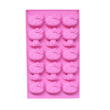 Face Hello Kitty Mold Cake Baking Silicone Chocolate Cupcake Cookie Candy Tray