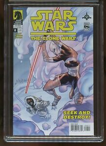 STAR WARS: THE CLONE WARS #8 CGC GRADED 9.8 WHITE PAGES 2009 #3725067050