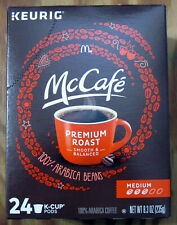 McDonald's McCafe Premium Roast Coffee Medium Blend Keurig Hot K-Cup Pods Box 24