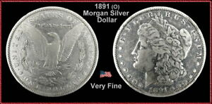 1891 Morgan Dollar / Toned /  Very Fine