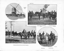 Fresne-lès-Reims VISITE DU TSAR NICHOLAS II RUSSIE RUSSIA ANTIQUE PRINT 1901