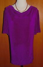 KIM & CO. Slinky-Qualität Shirt, 1/2-Arm Wasserfallausschnitt   Gr.M   QVC