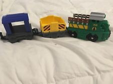 Fisher Price Geo Trax Vehicles - train cargo carriers