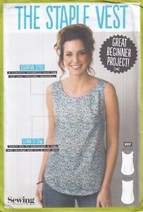Simply Sewing Pattern for The Staple Vest, Great Beginner Project Sizes 6-24 New