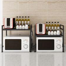 Edelstahl Mikrowelle Halterung Skalierbar Halter Microwellen Küchen mit 3 Haken