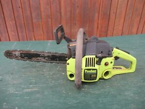 """Vintage POULAN 2050  Chainsaw Chain Saw with 13"""" Bar"""