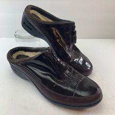 Cole Haan Womens Clogs Shoes Brown Slip On Zipper Waterproof Mules D26035 10 B
