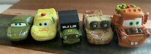 Disney Pixar CARS Mini Racers Die Cast Vehicles Lot Camo Lightning Mater rare!