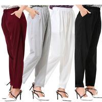 Summer Women Harem Baggy Ladies Full Length Leggings Trousers Pants High Waist