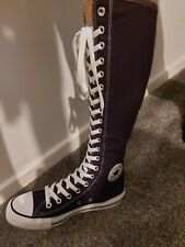 Converse Knee High Boots. Purple. Lace Up. Zip At The Back. Size 6